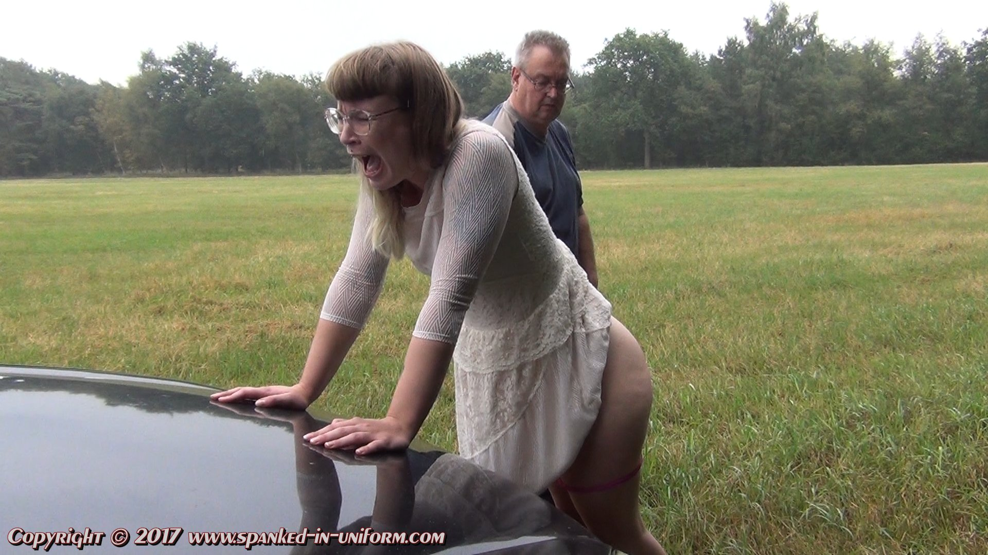 Phrase, taken to the woods and spanked
